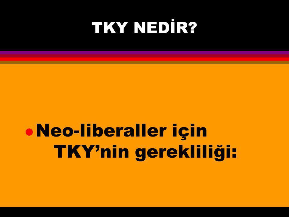 TKY NEDİR? l Neo-liberaller için TKY'nin gerekliliği: