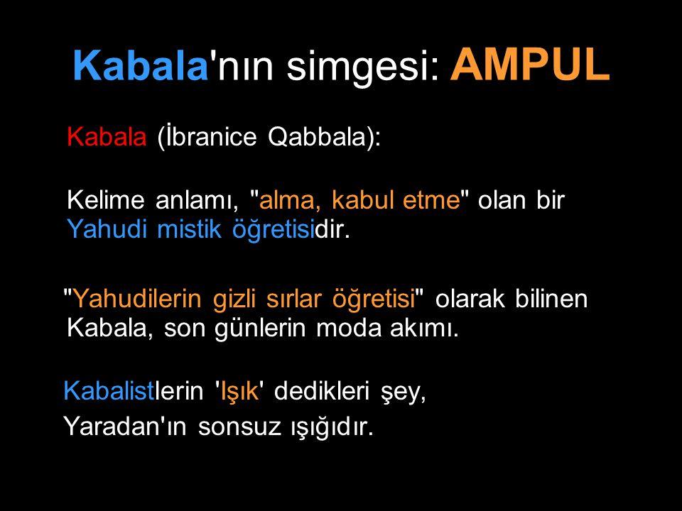 Kabala'nın simgesi: AMPUL Kabala (İbranice Qabbala): Kelime anlamı,