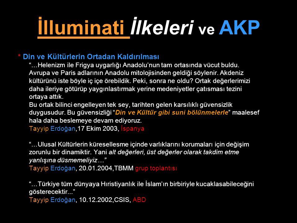 """İlluminati İlkeleri ve AKP * Din ve Kültürlerin Ortadan Kaldırılması """"…Helenizm ile Frigya uygarlığı Anadolu'nun tam ortasında vücut buldu. Avrupa ve"""