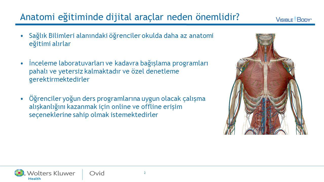 2 Anatomi eğitiminde dijital araçlar neden önemlidir? Sağlık Bilimleri alanındaki öğrenciler okulda daha az anatomi eğitimi alırlar İnceleme laboratuv