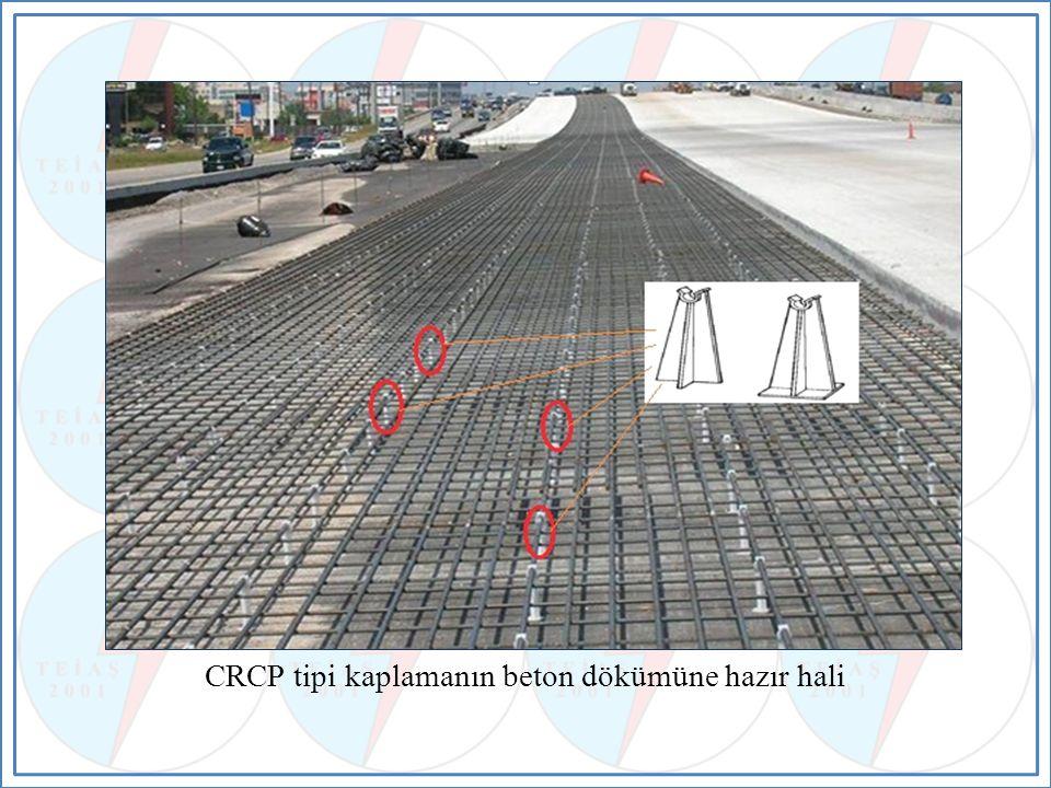 CRCP tipi kaplamanın beton dökümüne hazır hali