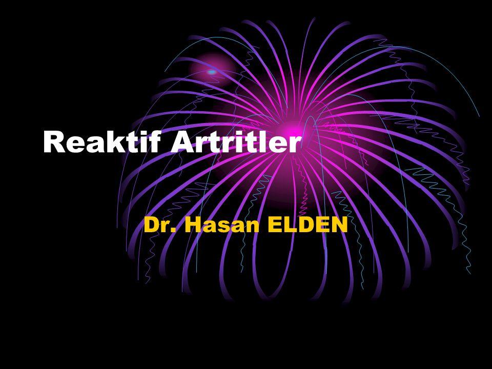 Reaktif Artrit Vücudun her hangi bir yerindeki primer enfeksiyona ikincil, genetik olarak yatkın kisilerde ortaya çıkan; akut veya subakut, aseptik, nonsüpüratif bir inflamatuar artrittir.