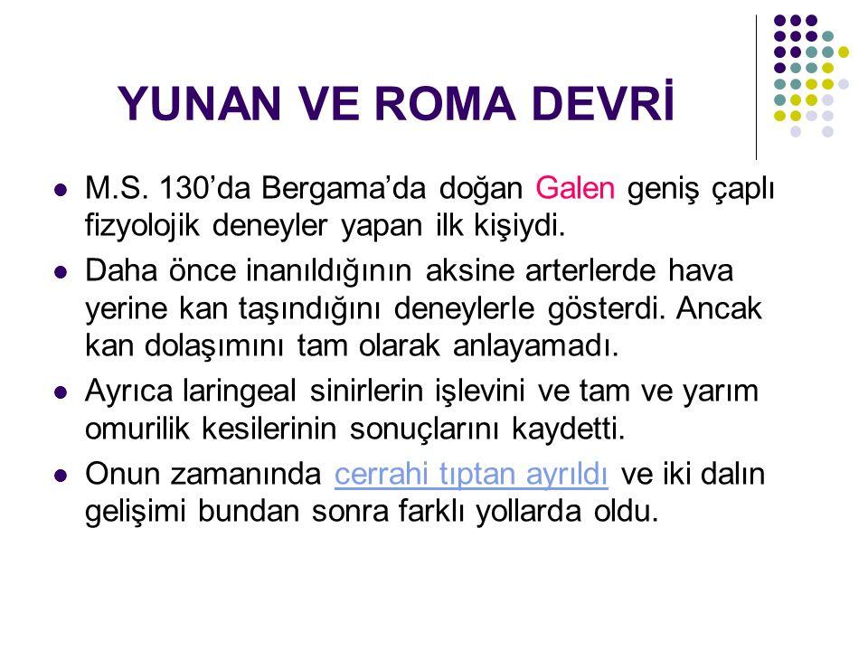YUNAN VE ROMA DEVRİ M.S.