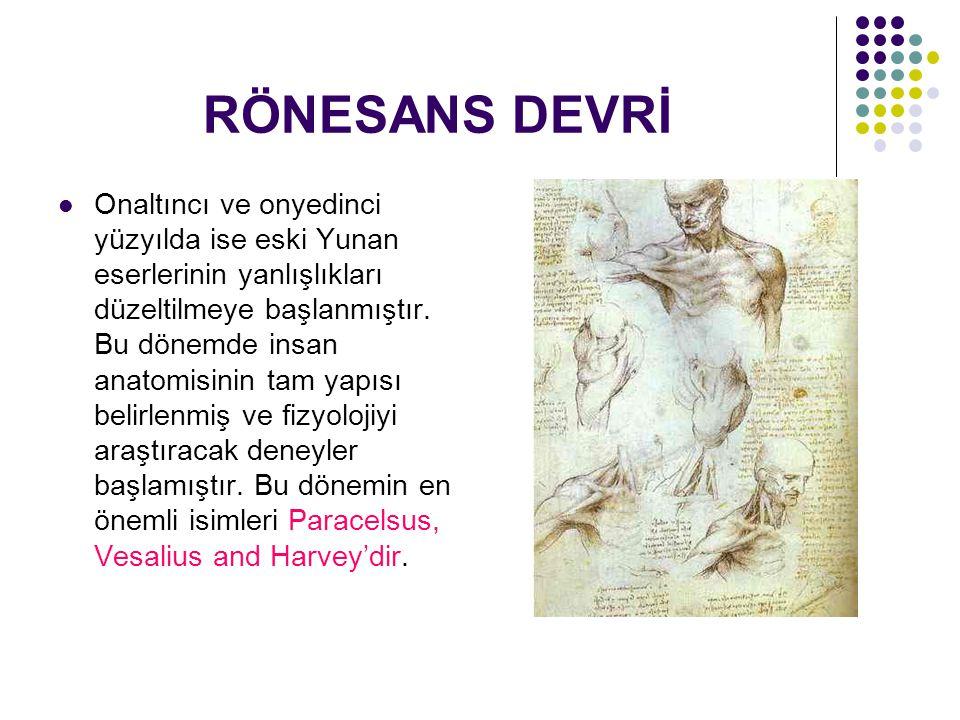 RÖNESANS DEVRİ Onaltıncı ve onyedinci yüzyılda ise eski Yunan eserlerinin yanlışlıkları düzeltilmeye başlanmıştır.
