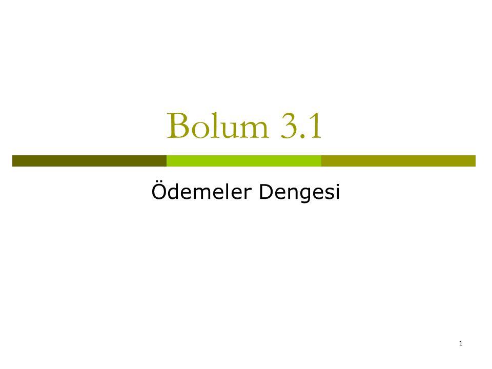 1 Bolum 3.1 Ödemeler Dengesi