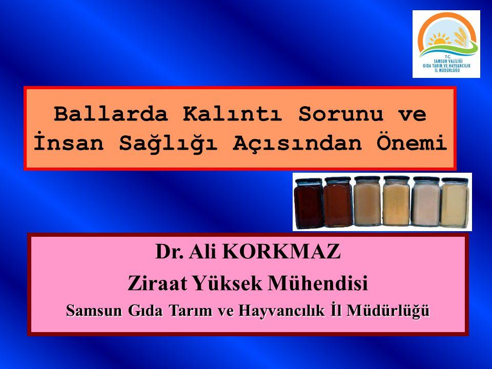 Ballarda Kalıntı Sorunu ve İnsan Sağlığı Açısından Önemi Ali KORKMAZ Alata Bahçe Kültürleri Araştırma Enstitüsü Erdemli/İÇEL Dr.