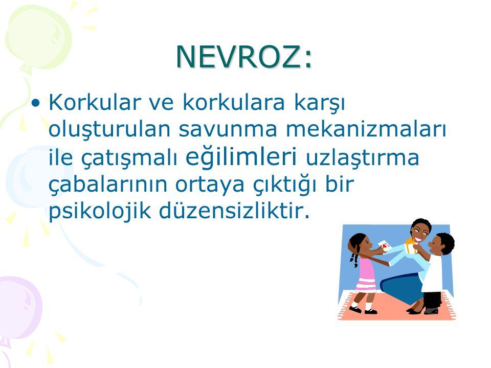 Çocuk anne yada babadan birisine çok yaklaşırken nevrotik olan anne yada babadan uzaklaşabilir.