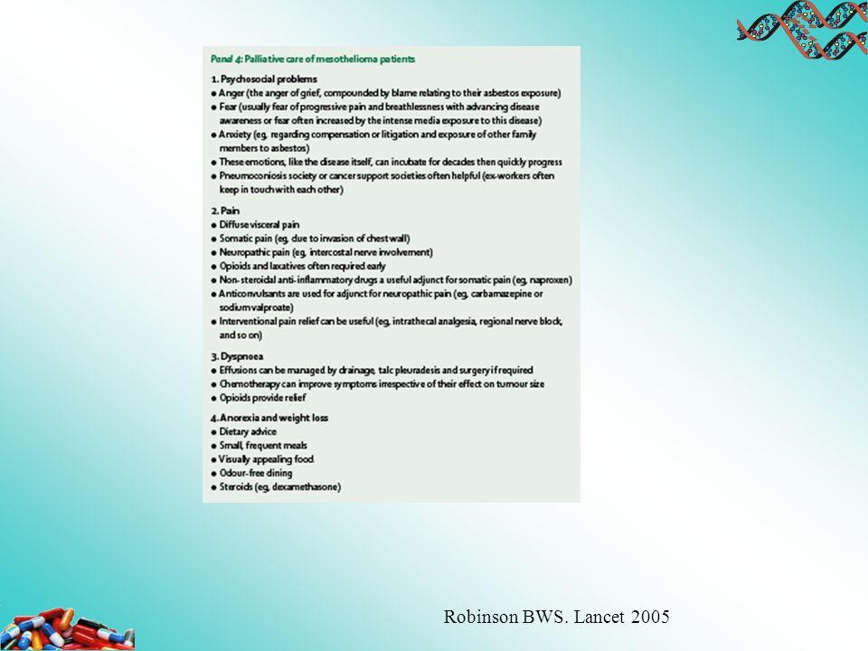 Robinson BWS. Lancet 2005