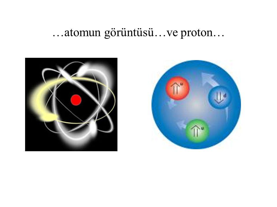 …atomun görüntüsü…ve proton…