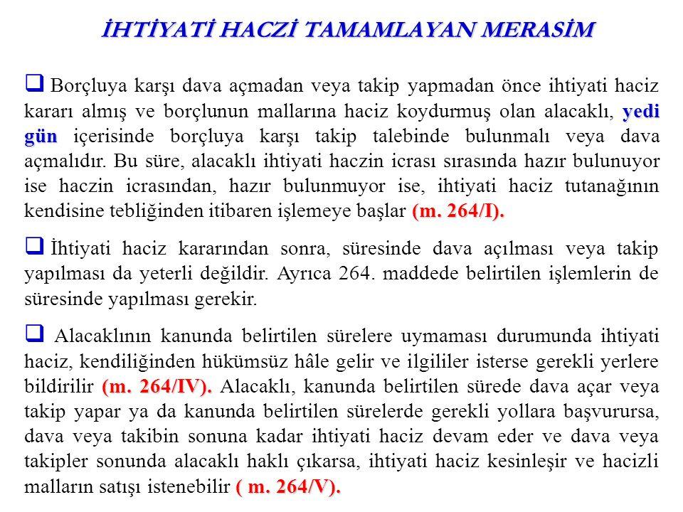 İHTİYATİ HACİZDEN KAYNAKLANAN TAZMİNAT DAVASI (m.259; m.