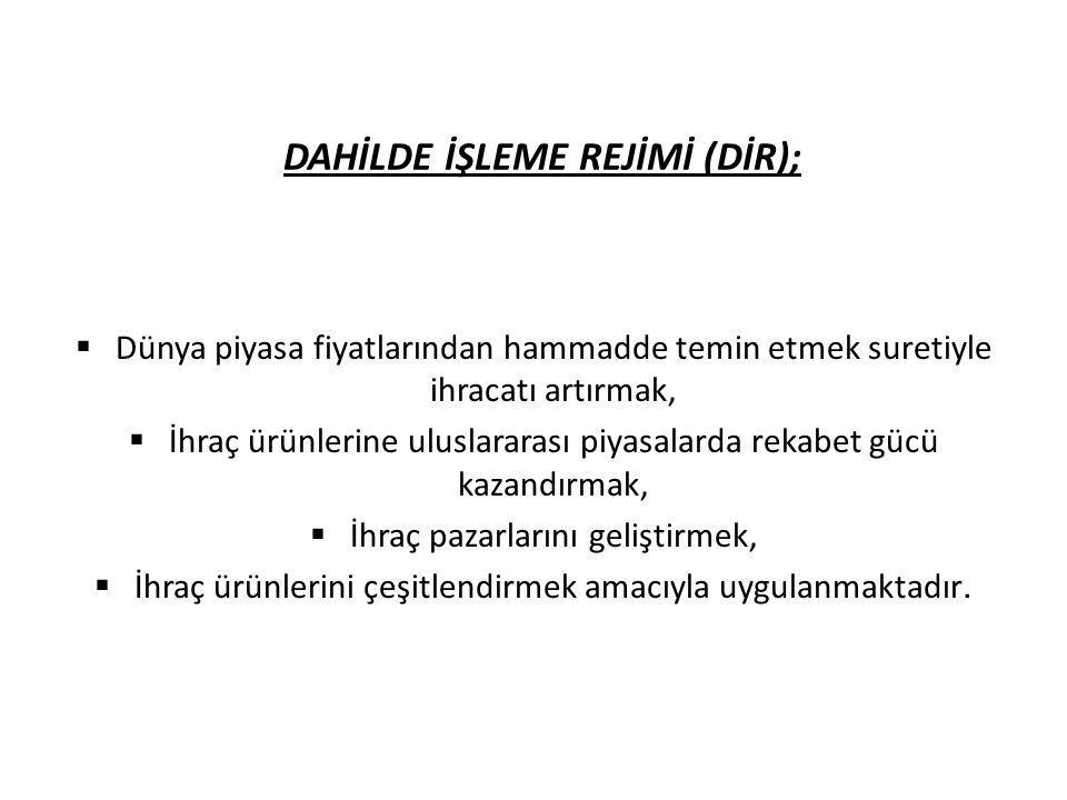 Belge/izin müracaatı MADDE 15 (1) Türkiye Gümrük Bölgesinde (serbest bölgeler hariç) yerleşik firmaların; a) Dahilde işleme izin belgesi almak için elektronik ortamda Müsteşarlığa (İhracat Genel Müdürlüğü), b) Dahilde işleme izni almak için ek-1'de belirtilen bilgi ve belgelerle gümrük idaresine, müracaat etmeleri gerekir.