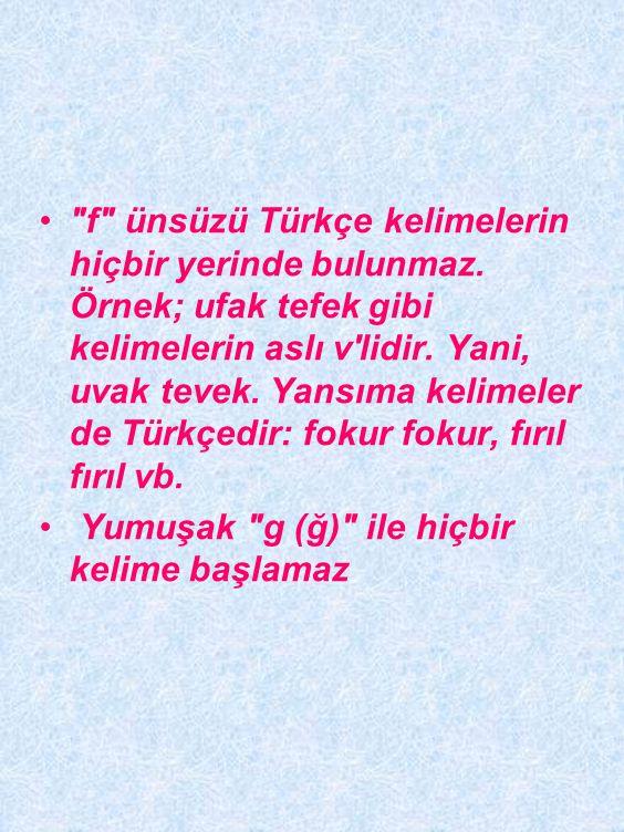 Türkçede