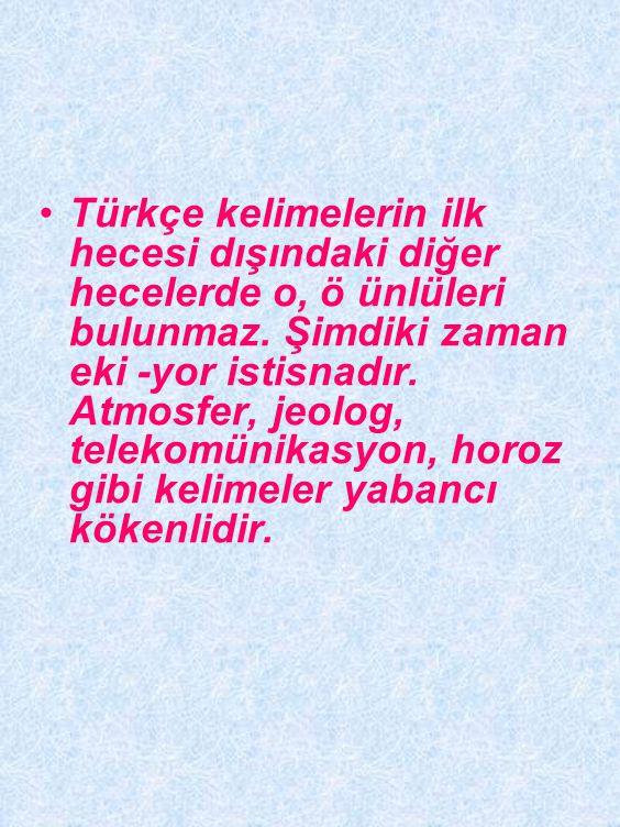Türkçe kelimelerde sonu ünlü ile bitmişse bu tür kelimelere ünlü ile başlayan bir ek getirildiğinde araya koruyucu / kaynaştırıcı ünsüzleri n, s, ş, y