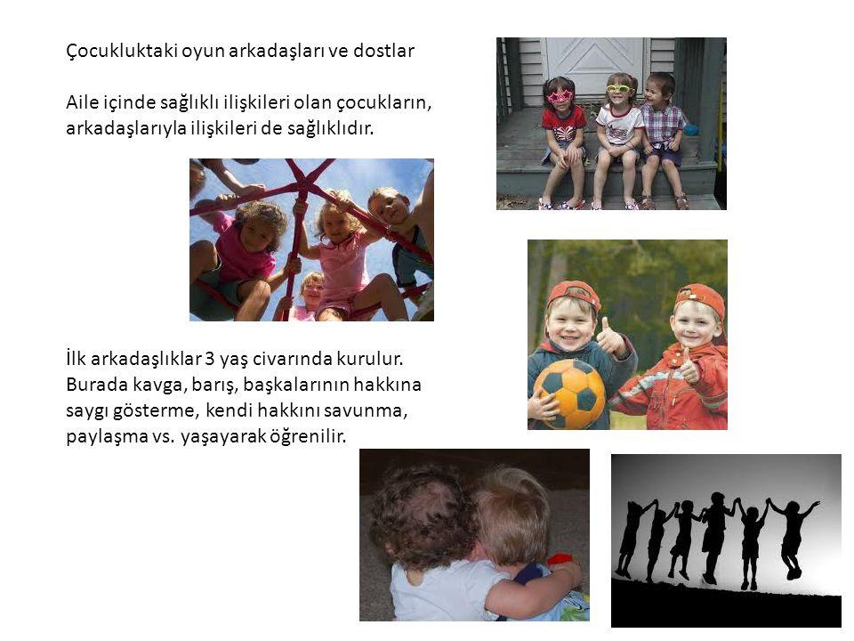 Çocukluktaki oyun arkadaşları ve dostlar Aile içinde sağlıklı ilişkileri olan çocukların, arkadaşlarıyla ilişkileri de sağlıklıdır. İlk arkadaşlıklar