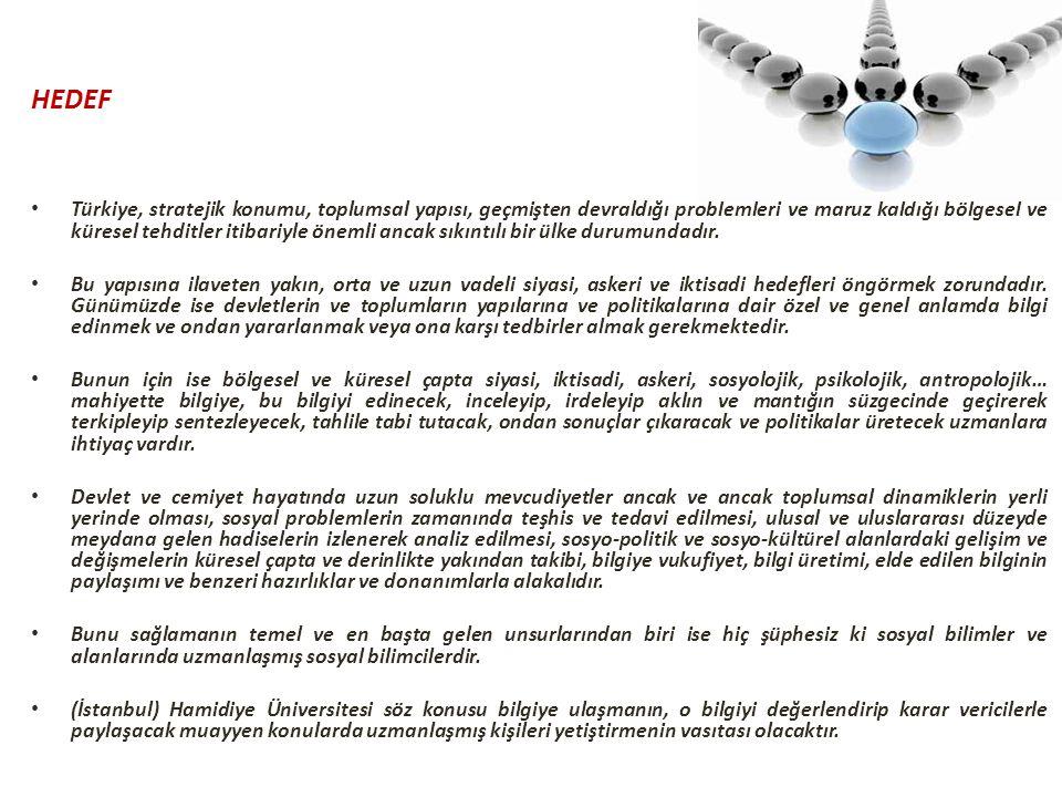 HEDEF Türkiye, stratejik konumu, toplumsal yapısı, geçmişten devraldığı problemleri ve maruz kaldığı bölgesel ve küresel tehditler itibariyle önemli a