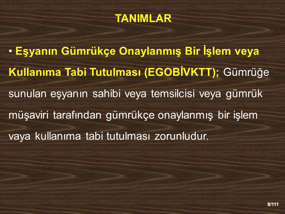 89/111 ATA KARNELERİ Süre, - Sergi ve fuarlar ; 6 ay ancak….