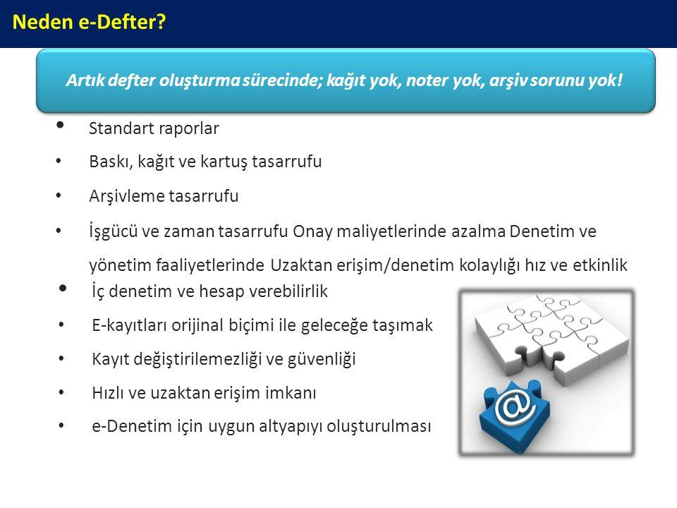 Genel Uygulama e-Defter olarak oluşturulan dosyalar, GİB'in belirlediği format ve standartlara (XBRL GL) uygun olmalıdır.