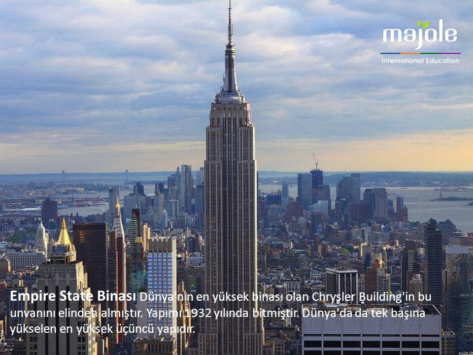 Empire State Binası Dünya'nın en yüksek binası olan Chrysler Building'in bu unvanını elinden almıştır. Yapımı 1932 yılında bitmiştir. Dünya'da da tek