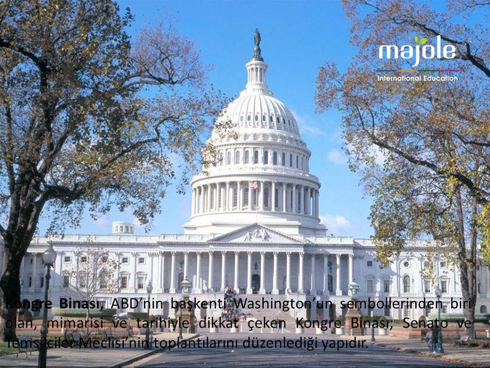 Kongre Binası, ABD'nin başkenti Washington'un sembollerinden biri olan, mimarisi ve tarihiyle dikkat çeken Kongre Binası; Senato ve Temsilciler Meclis
