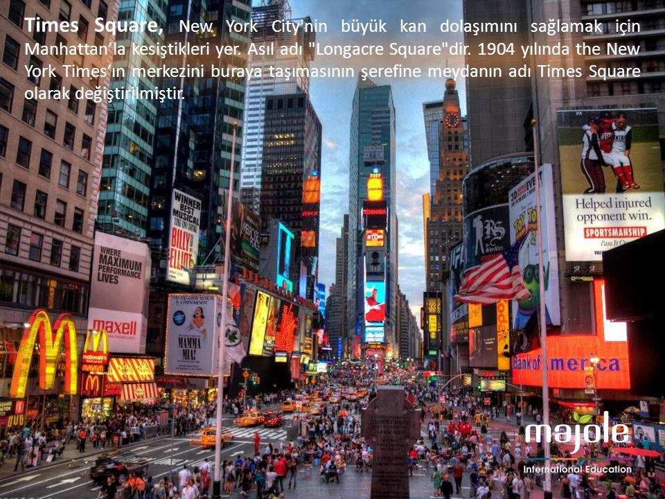 Times Square, New York City'nin büyük kan dolaşımını sağlamak için Manhattan'la kesiştikleri yer. Asıl adı