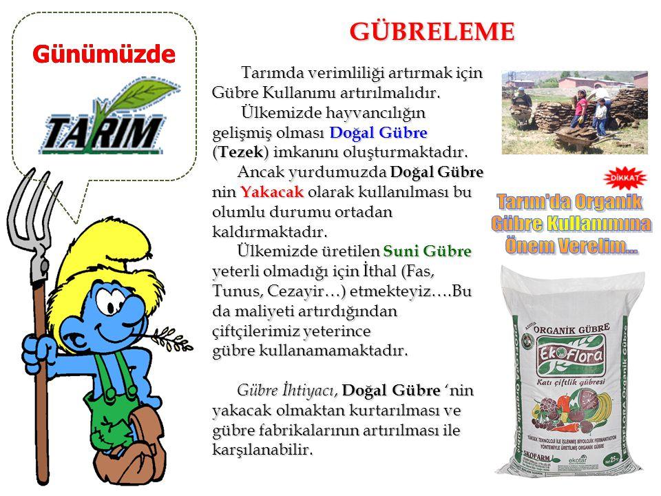 Günümüzde SULAMA SORUNU Türkiye Tarımı 'nda en büyük sorun sulama sorunudur. Tarımda sulama ihtiyacının en fazla olduğu bölgemiz,kuraklık ve şiddetli