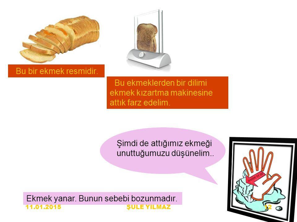 Bu bir ekmek resmidir. Bu ekmeklerden bir dilimi ekmek kızartma makinesine attık farz edelim. Şimdi de attığımız ekmeği unuttuğumuzu düşünelim.. Ekmek