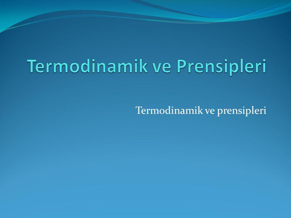 Termodinamik ve prensipleri
