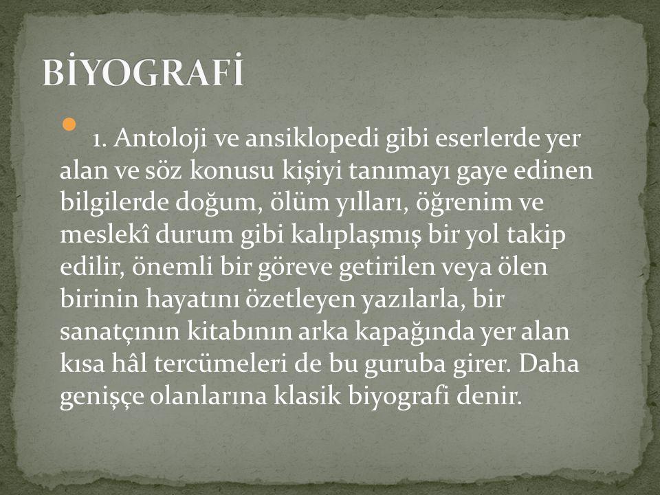 On yedinci asır: Riyazü ş-Şuara (Riyazi-1592) Zübdetü l-Eş ar (Asım-1675) Teşrifatü ş-Şuara (Güfti-1677) On sekizinci asır: Safai Tezkiresi (Safai-1721) Nuhbetü'l-asar (Beliğ-1721) Adab-ı Zurefa (Ramiz-1783) Mir at-ı Şiir (Akif-1789)