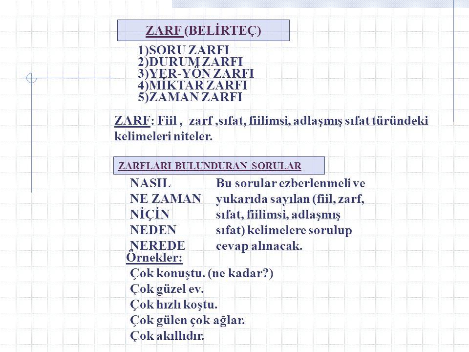 5) Dönüşlülük Zamiri: *Kendi kelimesi dönüşlülük zamiridir. *Pekiştirmek amaçlı kullanılabilir. Bu soruları ben kendim çözdüm. Zamirlerle İlgili Genel