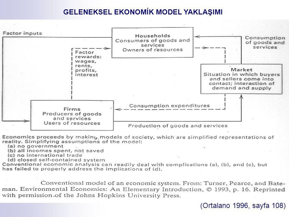 (Ortalano 1996, sayfa 108) GELENEKSEL EKONOMİK MODEL YAKLAŞIMI