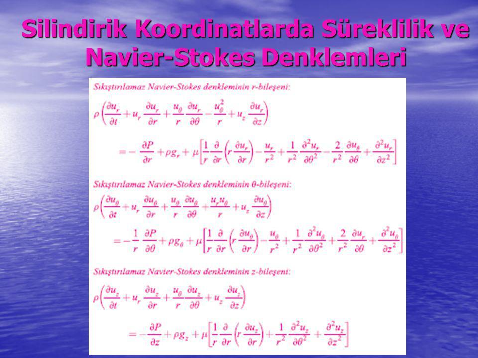 Silindirik Koordinatlarda Süreklilik ve Navier-Stokes Denklemleri