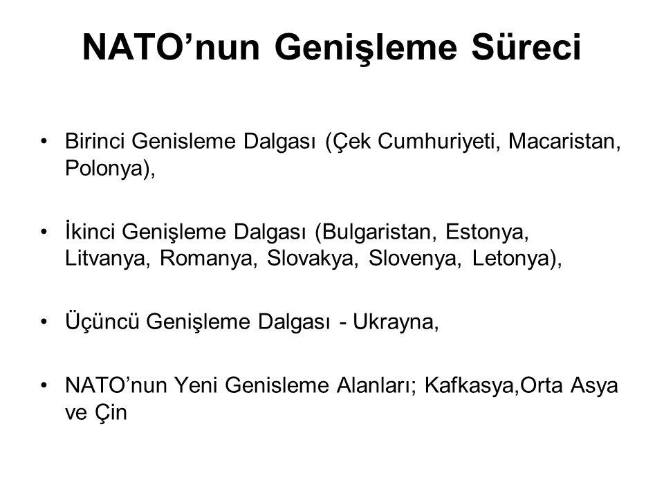 NATO'nun Genişleme Süreci Birinci Genisleme Dalgası (Çek Cumhuriyeti, Macaristan, Polonya), İkinci Genişleme Dalgası (Bulgaristan, Estonya, Litvanya,