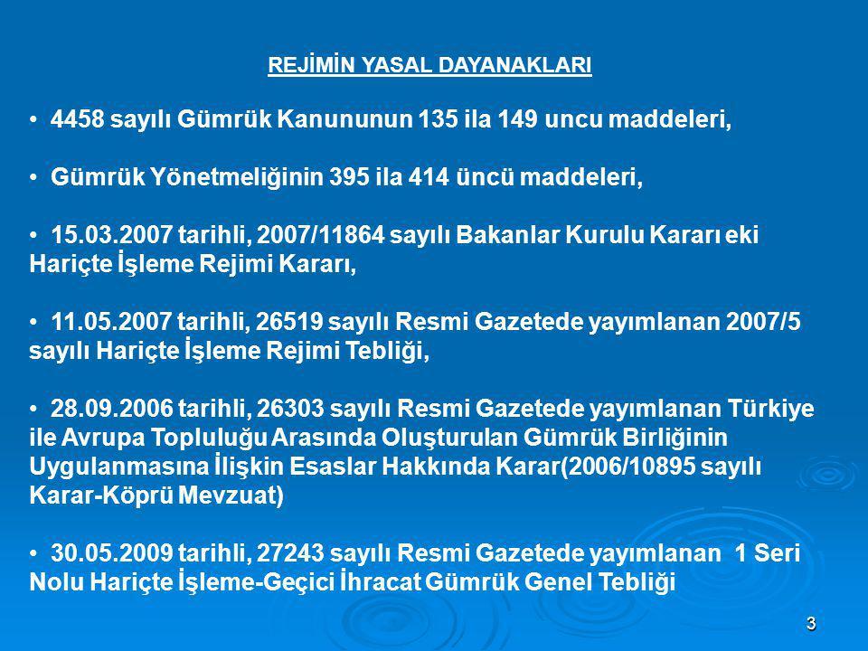 4 REJİMİN AMACI  Türkiye dışındaki ucuz işgücü maliyetinden faydalanmak,  Türkiye'de olmayan teknoloji ve kalite standartlarından faydalanmak,  İthal edilen eşyanın tamirini üreticisinin yapmasını sağlamak, vb.