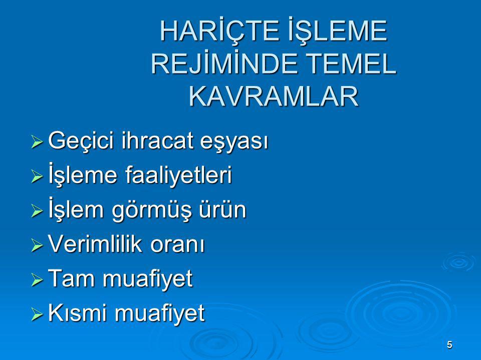 6 İZİN ŞARTLARI  Türkiye Gümrük Bölgesinde yerleşik kişi  İşlem görmüş ürün içinde geçici ihraç eşyasının tespit edilebilmesi  Yerli üreticilerin temel ekonomik çıkarlarının olumsuz etkilenmemesi