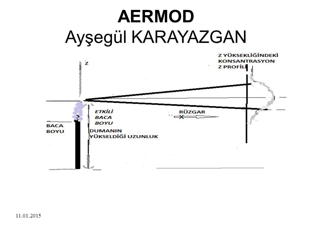 11.01.2015 AERMOD Ayşegül KARAYAZGAN