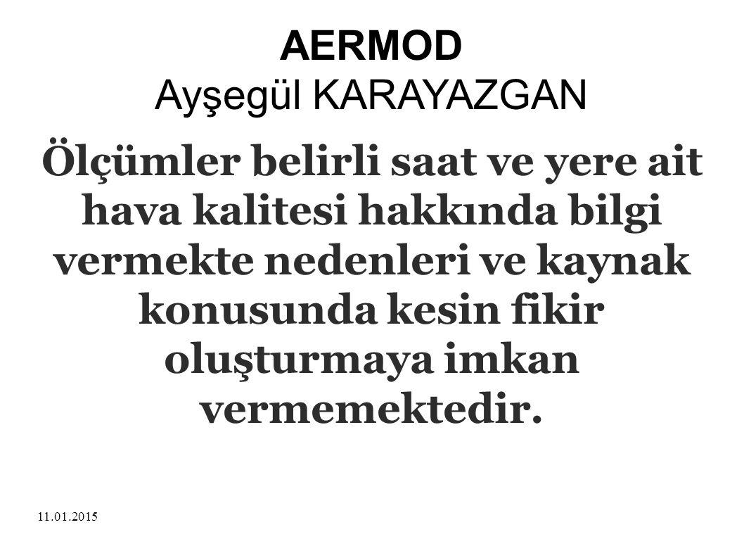 11.01.2015 AERMOD Ayşegül KARAYAZGAN Model farklı değişkenlerin birbirleriyle etkileşimini fizik kuram temelinde matematik yöntemle ortaya koymaktadır.