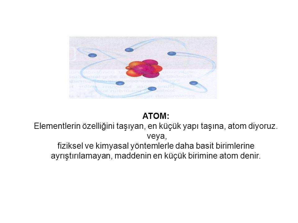 KÜRESEL SİMETRİ: Bir atomum elektron konfügrasyonu; S1, p3, d5 ile bitiyorsa bu duruma, Yarı Kararlı hal denir.