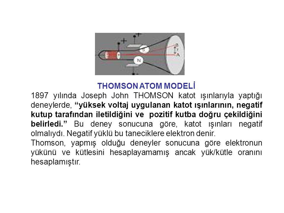 Dalton Atom Modelinin yanlışları:  Maddelerin en küçük yapıtaşı atom değildir.