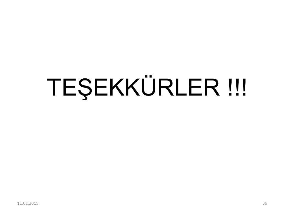 TEŞEKKÜRLER !!! 11.01.201536
