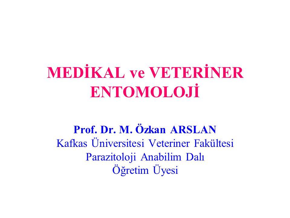 MEDİKAL ve VETERİNER ENTOMOLOJİ Prof. Dr. M. Özkan ARSLAN Kafkas Üniversitesi Veteriner Fakültesi Parazitoloji Anabilim Dalı Öğretim Üyesi