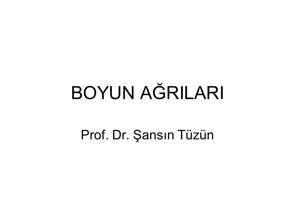 BOYUN AĞRILARI Prof. Dr. Şansın Tüzün
