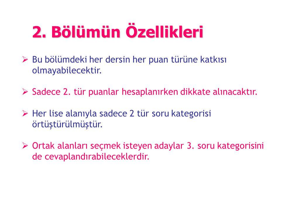  Türkçe-Edebiyat, Fen Bilimleri, Matematik ve Sosyal Bilimler' in her birinden 30 olmak üzere toplam 120 soru sorulacak.