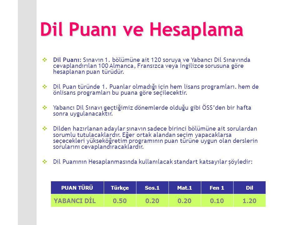 YDS de de Değişiklik Dil sınavına giren adaylara Matematik ve Fen Bilimleri testinin hiçbir etkisi olmuyordu.