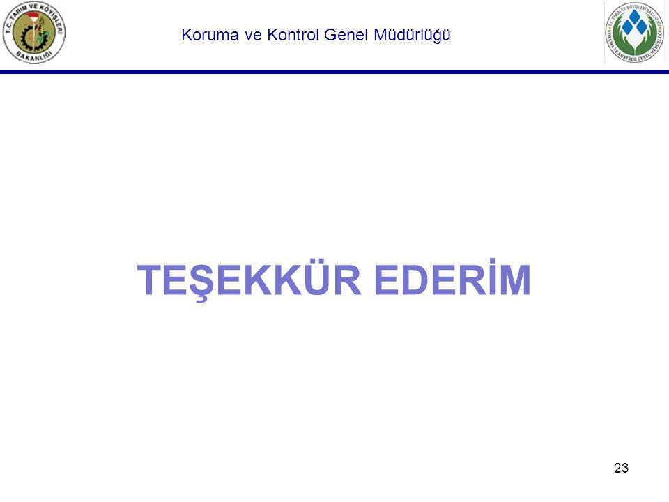 23 TEŞEKKÜR EDERİM Koruma ve Kontrol Genel Müdürlüğü