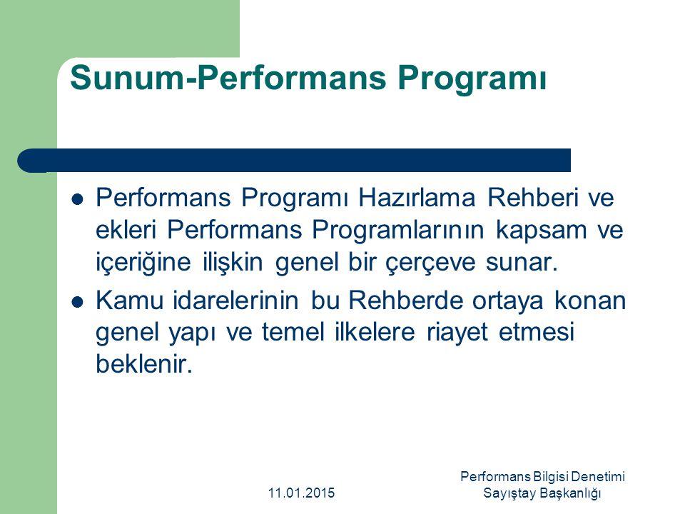 Sunum-Performans Programı Performans Programı Hazırlama Rehberi ve ekleri Performans Programlarının kapsam ve içeriğine ilişkin genel bir çerçeve suna
