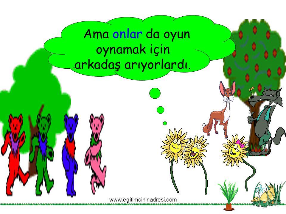 Ama onlar da oyun oynamak için arkadaş arıyorlardı. www.egitimcininadresi.com