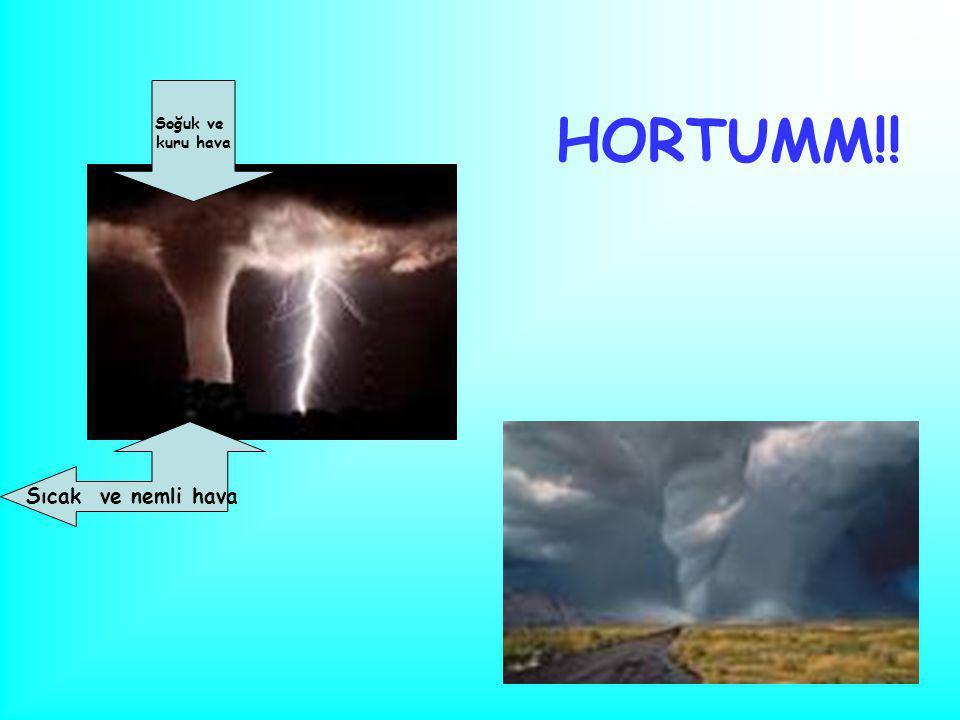 HORTUMM!! Sıcak ve nemli hava Soğuk ve kuru hava