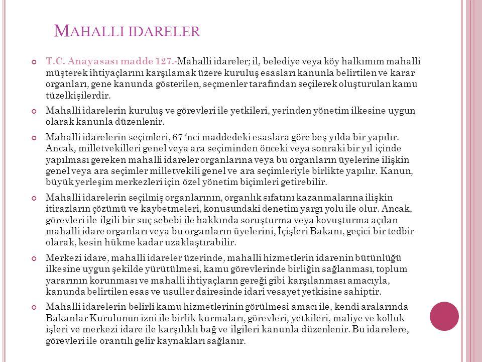 M AHALLI IDARELER T.C.