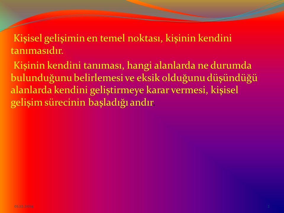 KİŞİSEL GELİŞİM 01.12.20141