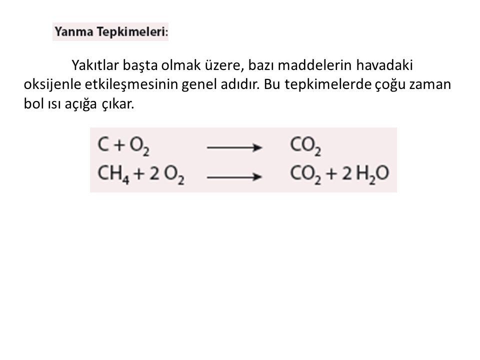Yakıtlar başta olmak üzere, bazı maddelerin havadaki oksijenle etkileşmesinin genel adıdır.
